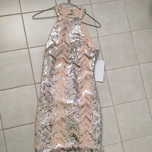 Blushed pink & silver sequined dress..never worn!